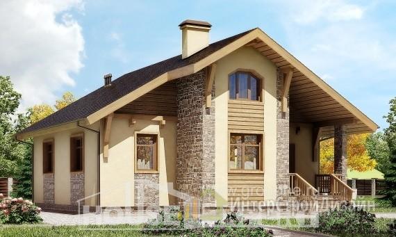 Проект дома 77м², жилая площадь 40м²