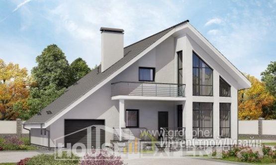 Проект дома 195м², жилая площадь 91м²