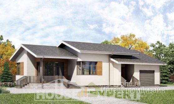 Проект дома 135м², жилая площадь 55м²