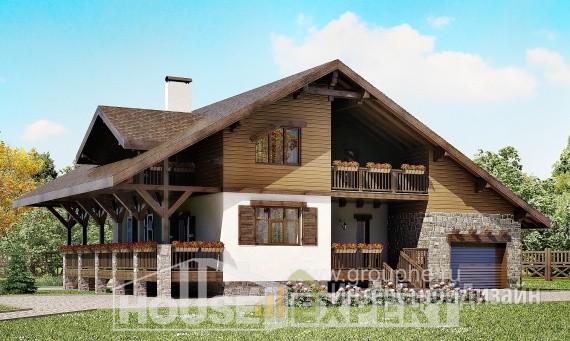 Проект дома 221м², жилая площадь 87м²
