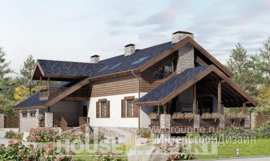 Проект дома 278м², жилая площадь 103м²