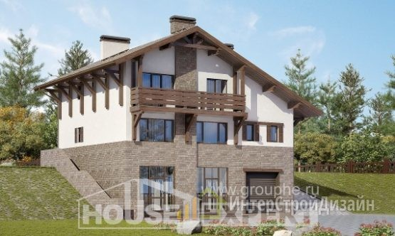 Проект дома 304м², жилая площадь 106м²