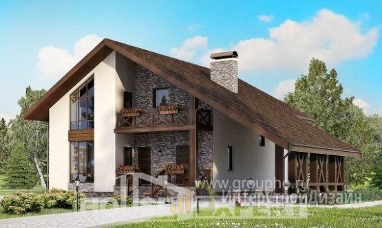 Проект дома 155м², жилая площадь 88м²