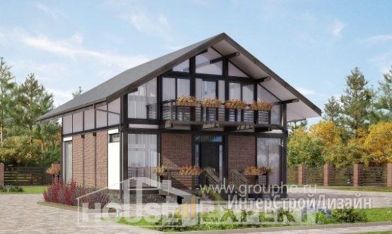 Проект дома 166м², жилая площадь 73м²