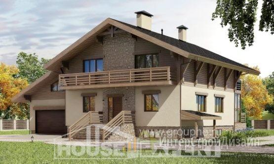Проект дома 417м², жилая площадь 138м²