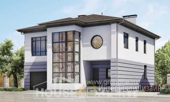 Проект дома 299м², жилая площадь 163м²