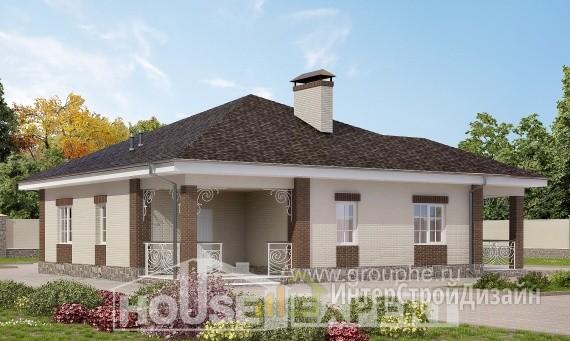 Проект дома 104м², жилая площадь 62м²