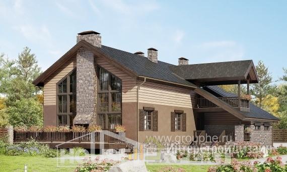 Проект дома 241м², жилая площадь 68м²