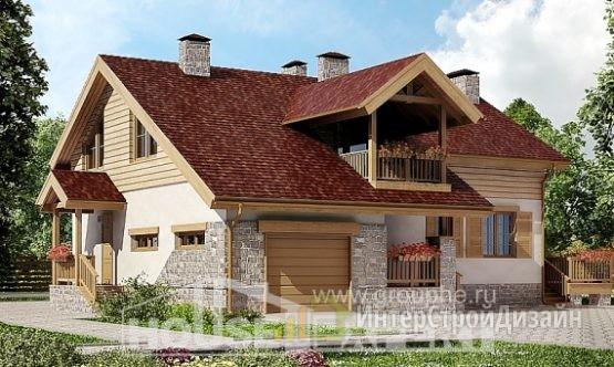 Проект дома 165м², жилая площадь 58м²