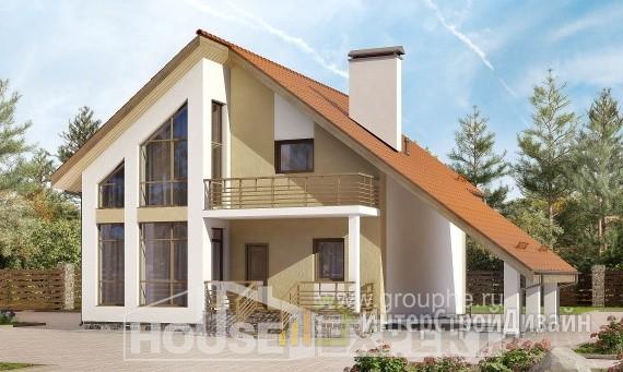 Проект дома 169м², жилая площадь 91м²