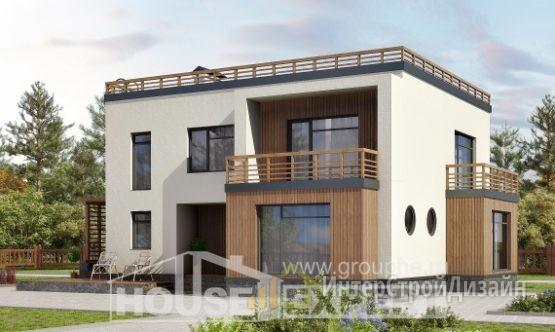 Проект дома 219м², жилая площадь 106м²