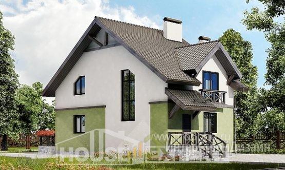 Проект дома 121м², жилая площадь 74м²