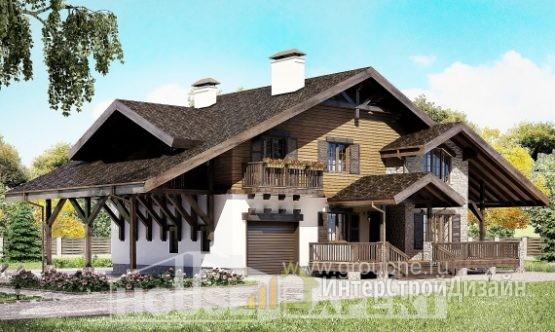 Проект дома 267м², жилая площадь 112м²
