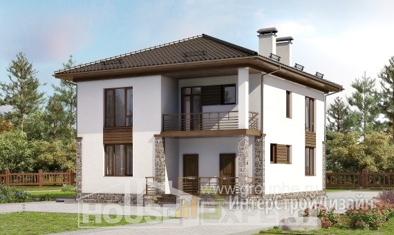 Проект дома 170м², жилая площадь 96м²