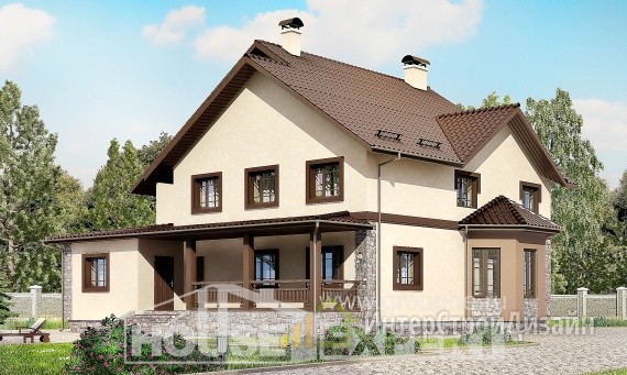 Проект дома 266м², жилая площадь 131м²