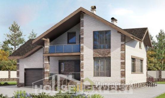 Проект дома 247м², жилая площадь 135м²