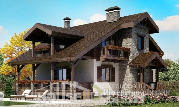 Проект дома 154м², жилая площадь 83м²