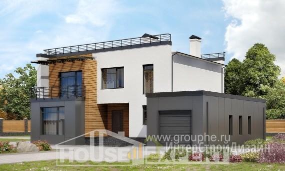 Проект дома 260м², жилая площадь 106м²