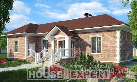 Проект дома 90м², жилая площадь 54м²