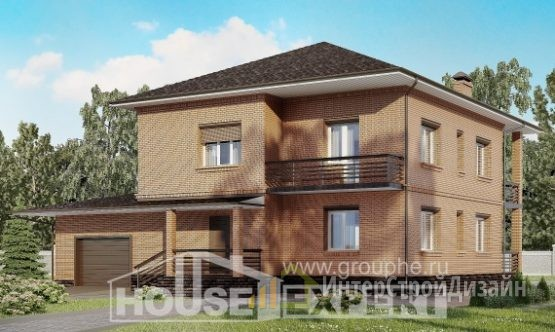 Проект дома 244м², жилая площадь 109м²