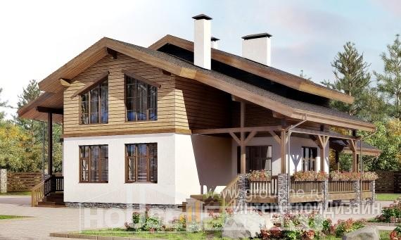 Проект дома 211м², жилая площадь 112м²