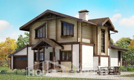 Проект дома 191м², жилая площадь 93м²