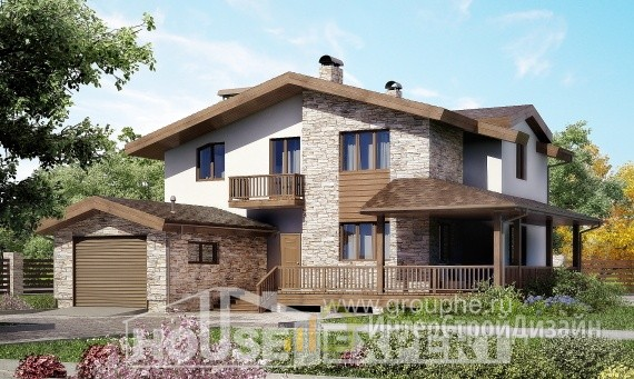Проект дома 221м², жилая площадь 104м²