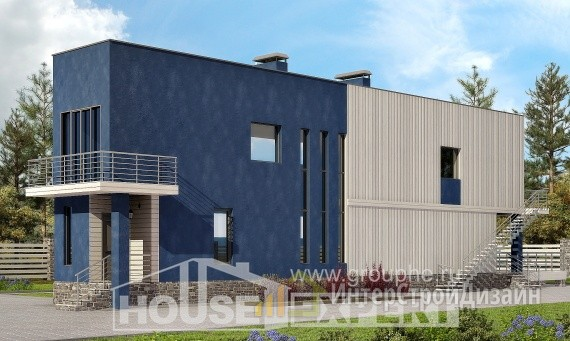 Проект дома 99м², жилая площадь 43м²
