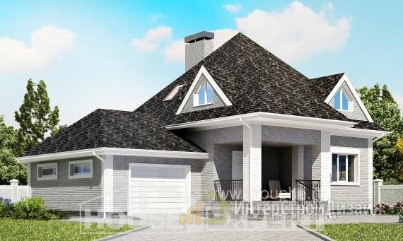 Проект дома 136м², жилая площадь 68м²