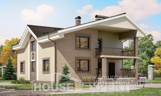 Проект дома 210м², жилая площадь 125м²