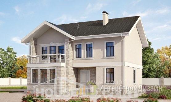 Проект дома 173м², жилая площадь 69м²