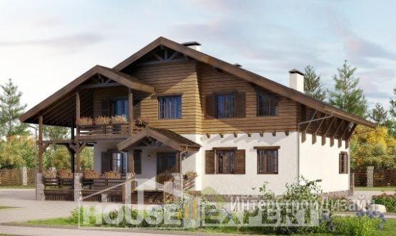 Проект дома 263м², жилая площадь 123м²