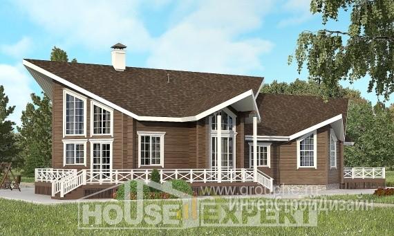 Проект дома 206м², жилая площадь 128м²