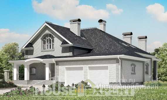 Проект дома 384м², жилая площадь 182м²