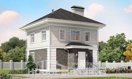 Проект дома 91м², жилая площадь 30м²