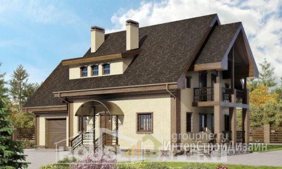 Проект дома 185м², жилая площадь 73м²