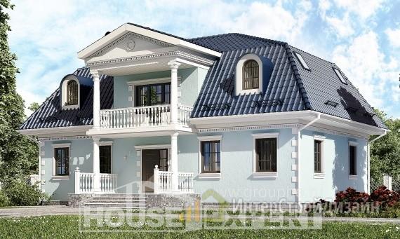 Проект дома 210м², жилая площадь 128м²