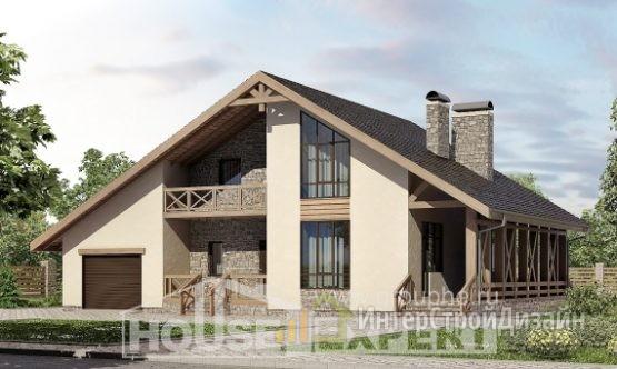 Проект дома 265м², жилая площадь 101м²