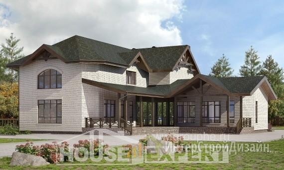 Проект дома 337м², жилая площадь 169м²