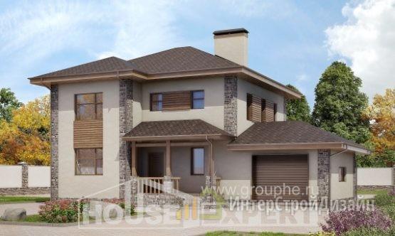 Проект дома 182м², жилая площадь 78м²