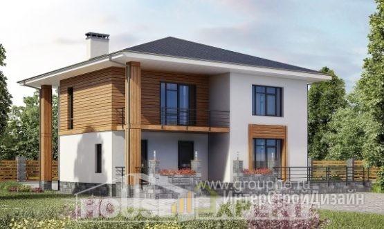 Проект дома 181м², жилая площадь 96м²
