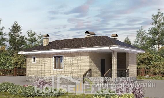 Проект бани 33м², жилая площадь 27м²