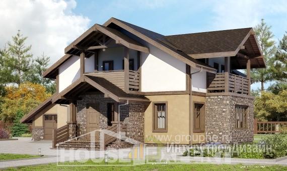 Проект дома 181м², жилая площадь 86м²
