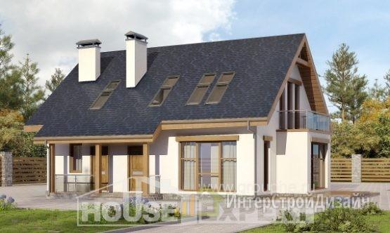 Проект дома 155м², жилая площадь 91м²