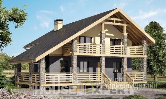 Проект дома 160м², жилая площадь 84м²