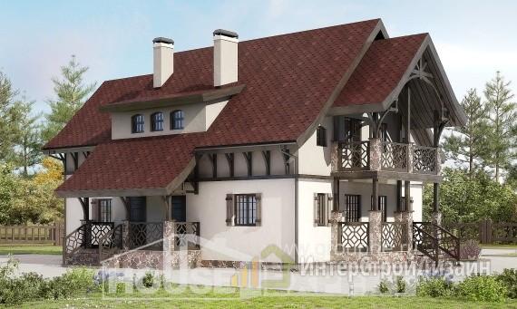 Проект дома 179м², жилая площадь 97м²