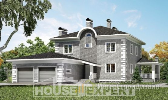 Проект дома 243м², жилая площадь 117м²