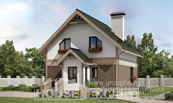 Проект дома 105м², жилая площадь 71м²