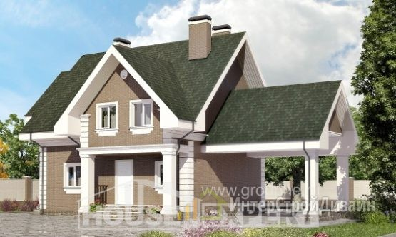 Проект дома 139м², жилая площадь 69м²