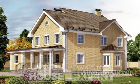 Проект дома 317м², жилая площадь 169м²